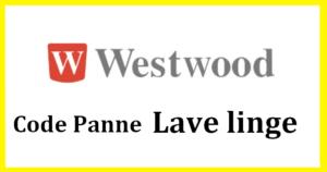 code panne machine a laver westwood r parateur el ctrom nager. Black Bedroom Furniture Sets. Home Design Ideas